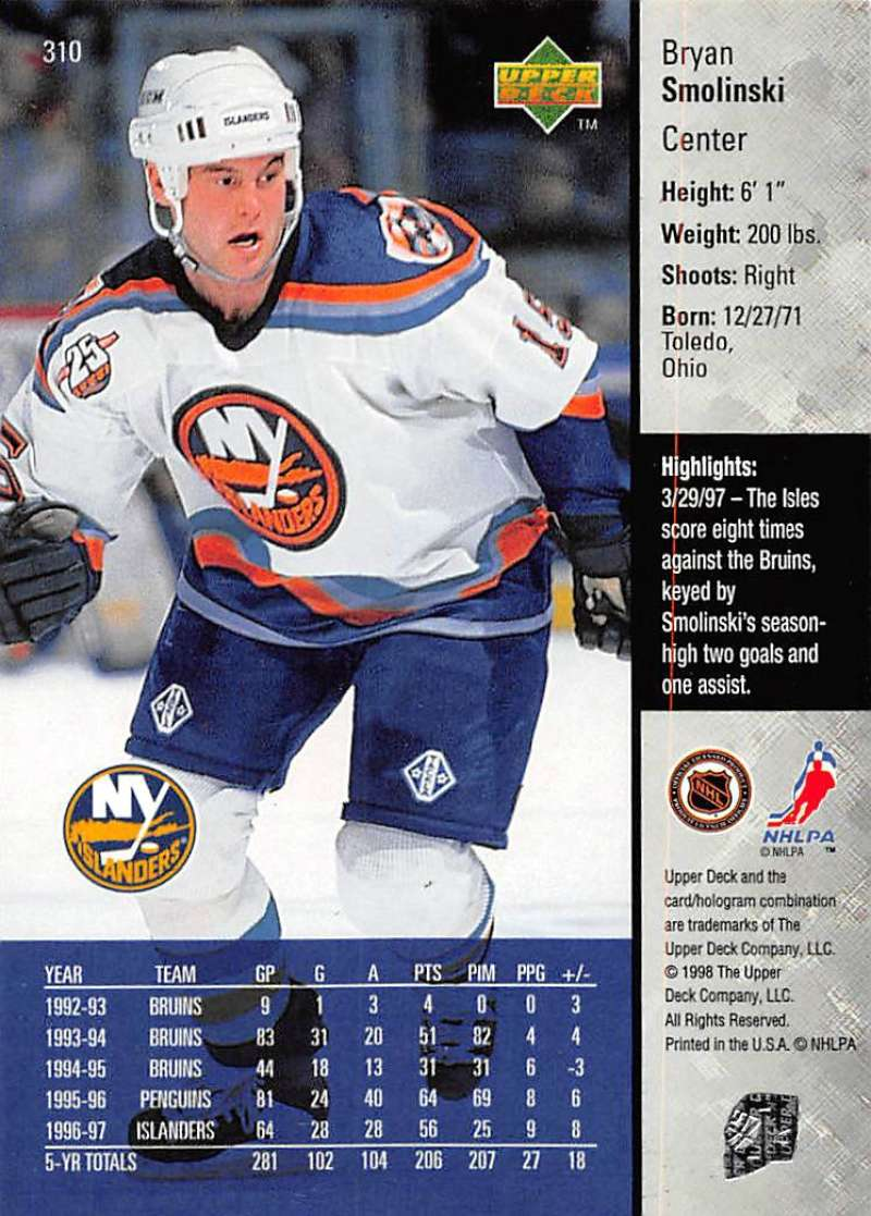 1997-98-Upper-Deck-Hockey-Card-Series-Two-Pick-From-List-211-420 thumbnail 137