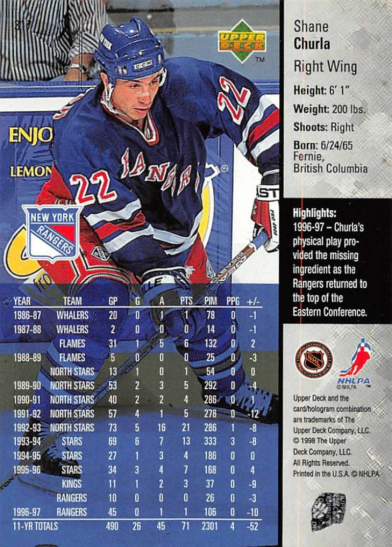 1997-98-Upper-Deck-Hockey-Card-Series-Two-Pick-From-List-211-420 thumbnail 149