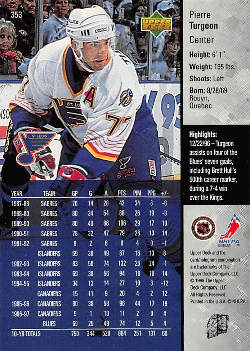 1997-98-Upper-Deck-Hockey-Card-Series-Two-Pick-From-List-211-420 thumbnail 205
