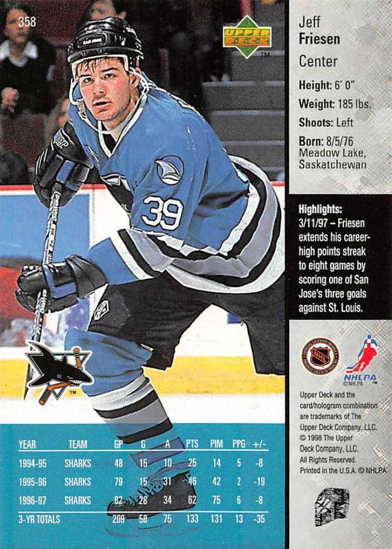 1997-98-Upper-Deck-Hockey-Card-Series-Two-Pick-From-List-211-420 thumbnail 211