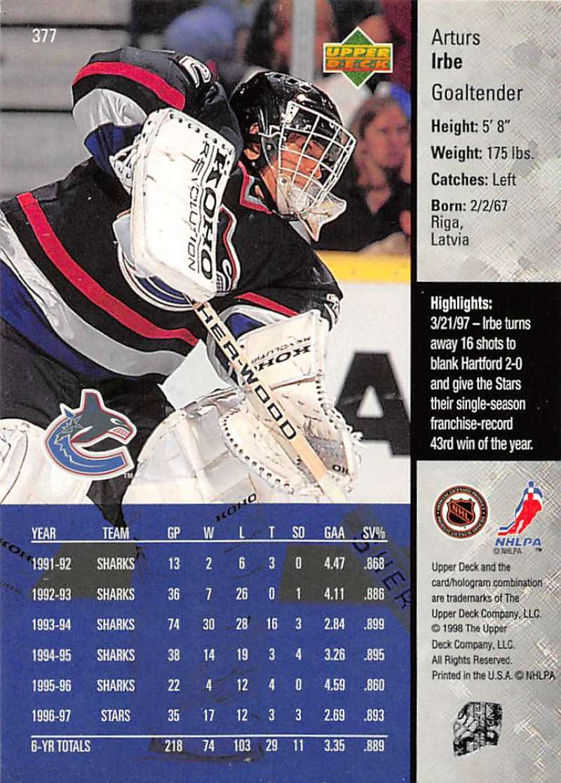 1997-98-Upper-Deck-Hockey-Card-Series-Two-Pick-From-List-211-420 thumbnail 229
