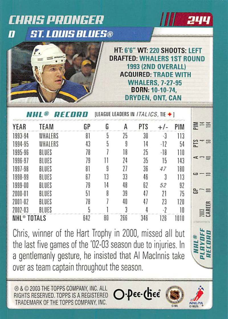 2003-04-O-Pee-Chee-OPC-Hockey-Cards-Pick-From-List-201-340-Includes-Rookies thumbnail 89