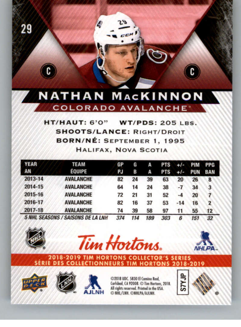 2018-19-Upper-Deck-Tim-Hortons-NHL-Hockey-Cards-Base-and-Inserts-Pick-From-List thumbnail 19