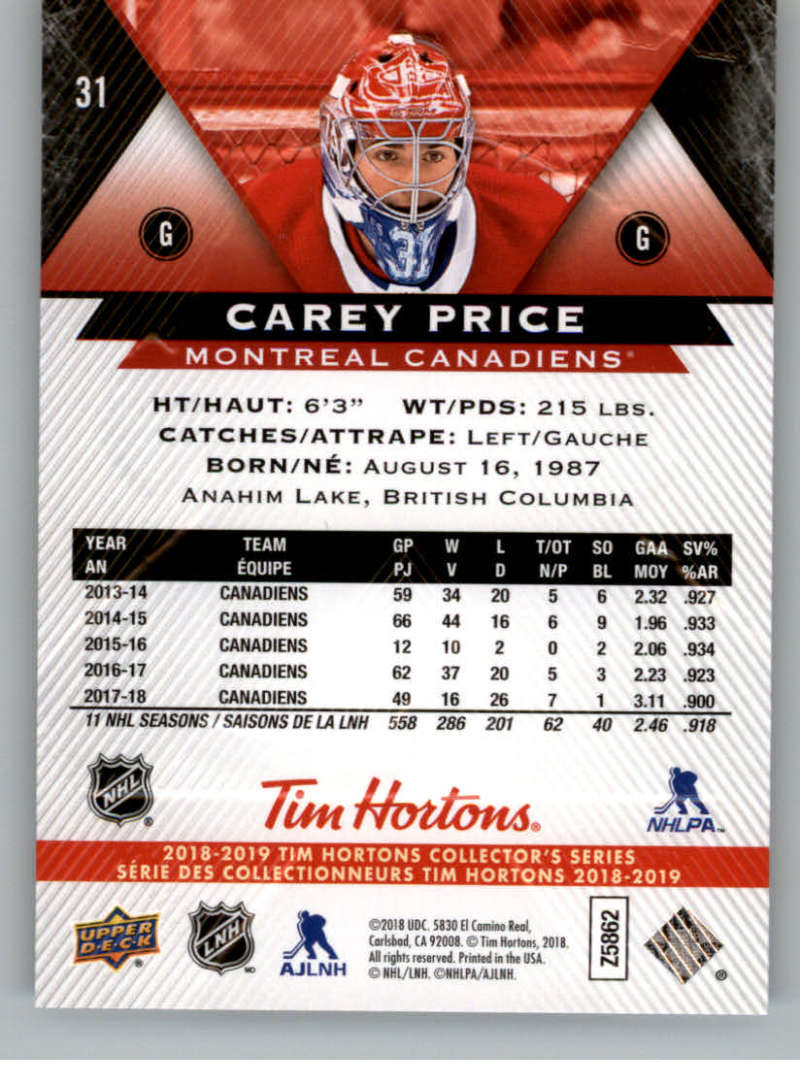 2018-19-Upper-Deck-Tim-Hortons-NHL-Hockey-Cards-Base-and-Inserts-Pick-From-List thumbnail 23