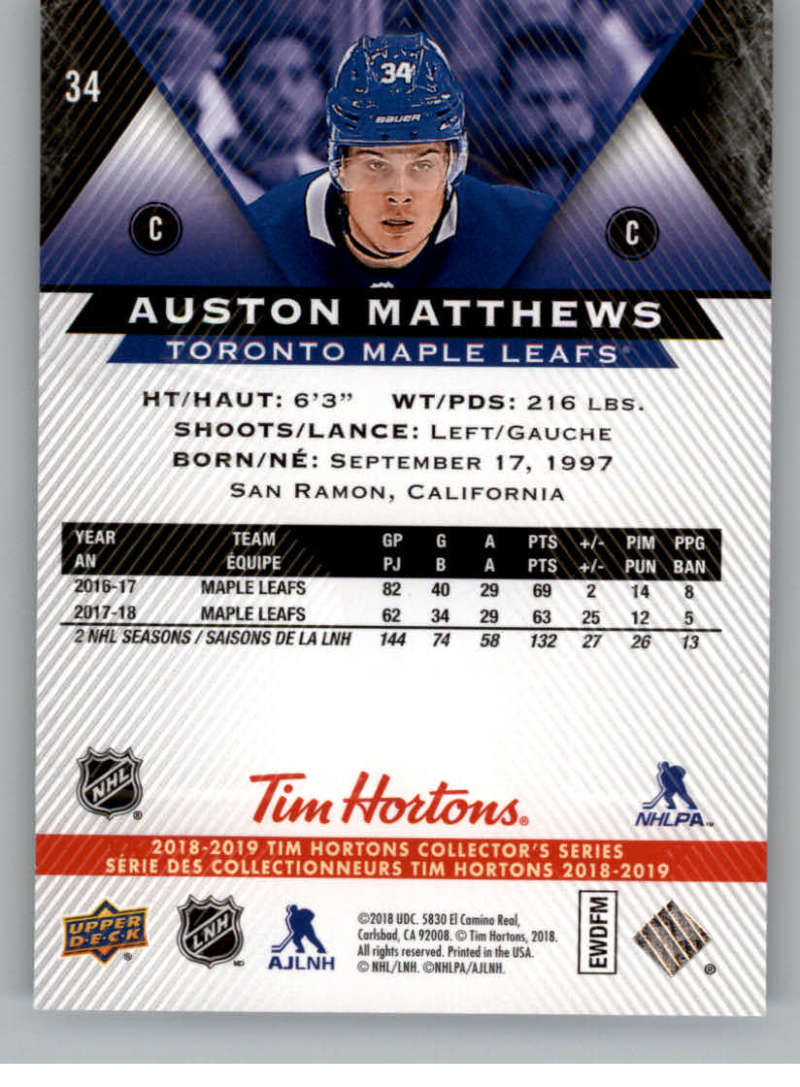 2018-19-Upper-Deck-Tim-Hortons-NHL-Hockey-Cards-Base-and-Inserts-Pick-From-List thumbnail 29