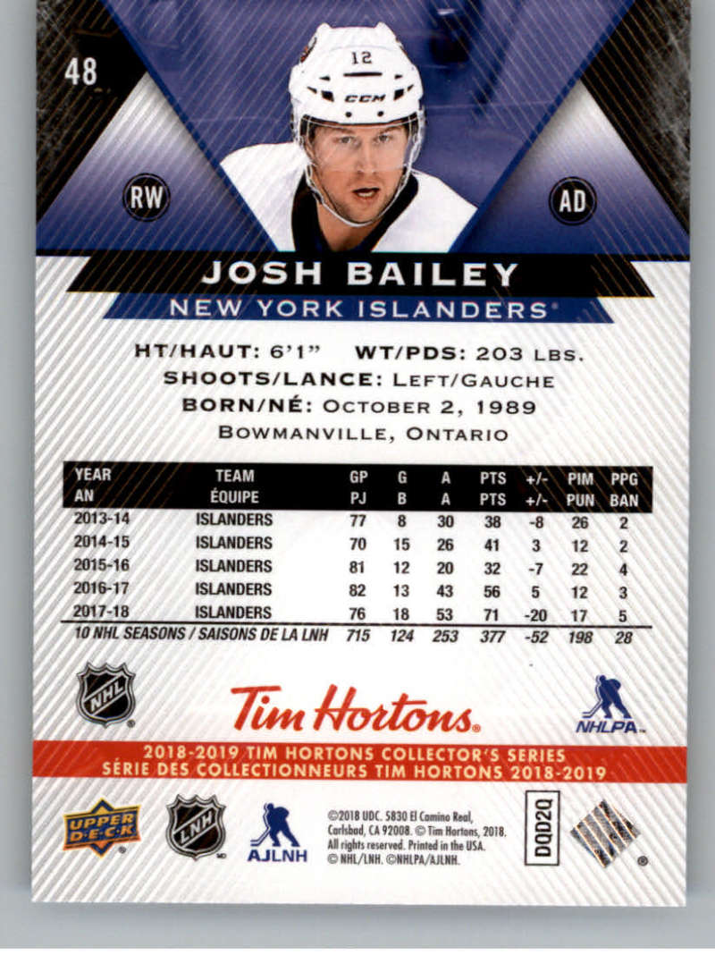 2018-19-Upper-Deck-Tim-Hortons-NHL-Hockey-Cards-Base-and-Inserts-Pick-From-List miniature 31