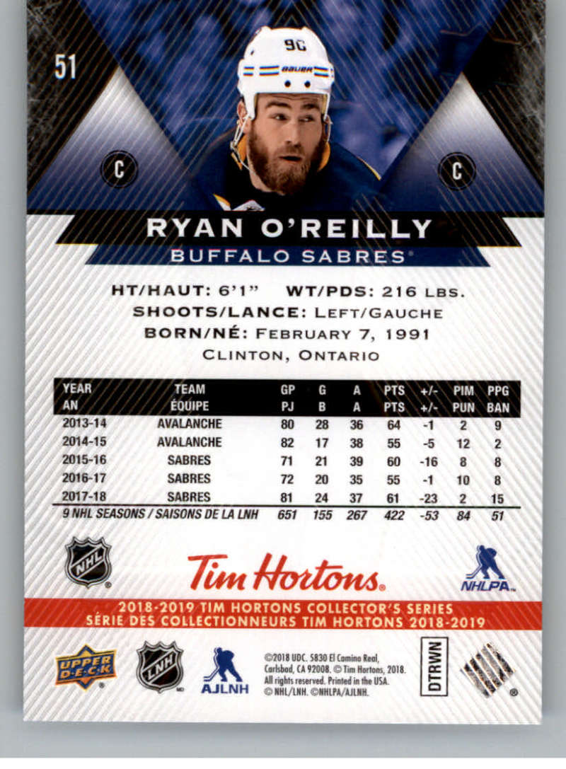 2018-19-Upper-Deck-Tim-Hortons-NHL-Hockey-Cards-Base-and-Inserts-Pick-From-List miniature 35