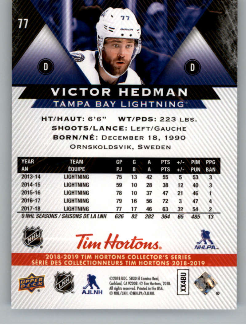 2018-19-Upper-Deck-Tim-Hortons-NHL-Hockey-Cards-Base-and-Inserts-Pick-From-List miniature 51