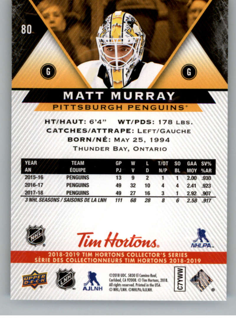 2018-19-Upper-Deck-Tim-Hortons-NHL-Hockey-Cards-Base-and-Inserts-Pick-From-List thumbnail 71