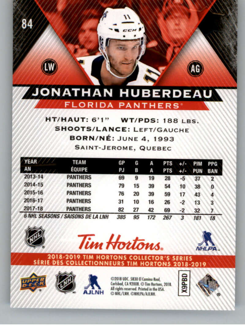 2018-19-Upper-Deck-Tim-Hortons-NHL-Hockey-Cards-Base-and-Inserts-Pick-From-List miniature 55