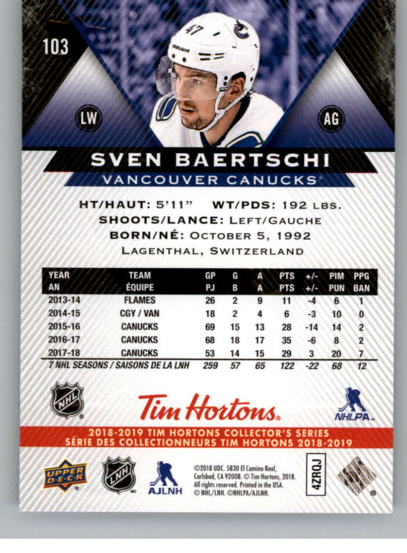 2018-19-Upper-Deck-Tim-Hortons-NHL-Hockey-Cards-Base-and-Inserts-Pick-From-List miniature 65