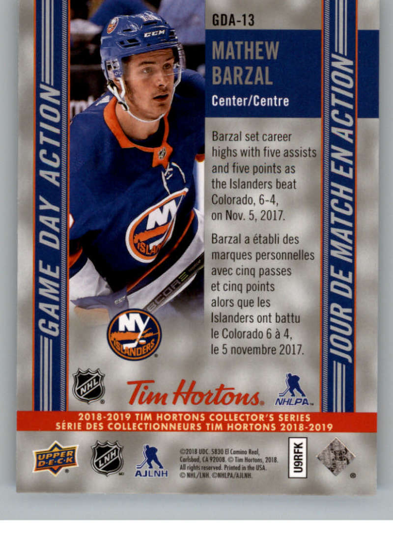 2018-19-Upper-Deck-Tim-Hortons-NHL-Hockey-Cards-Base-and-Inserts-Pick-From-List thumbnail 93
