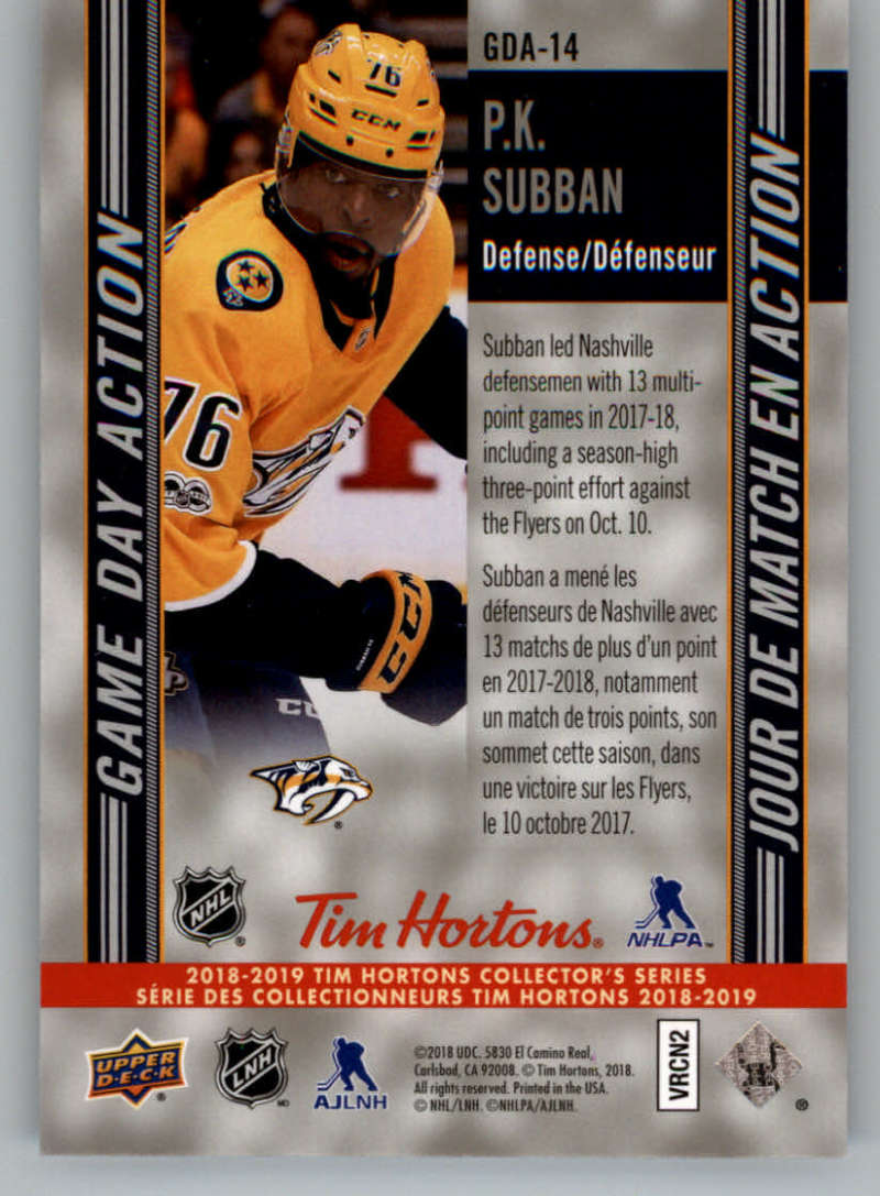 2018-19-Upper-Deck-Tim-Hortons-NHL-Hockey-Cards-Base-and-Inserts-Pick-From-List miniature 87