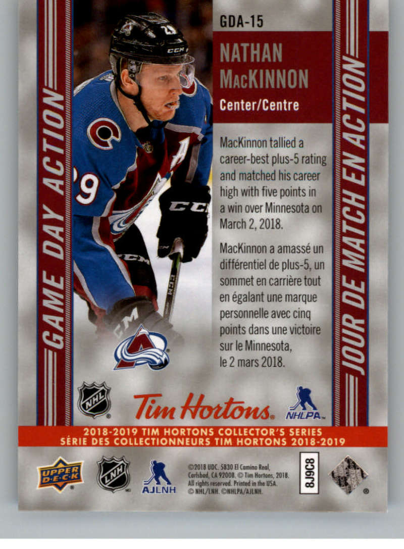 2018-19-Upper-Deck-Tim-Hortons-NHL-Hockey-Cards-Base-and-Inserts-Pick-From-List thumbnail 97