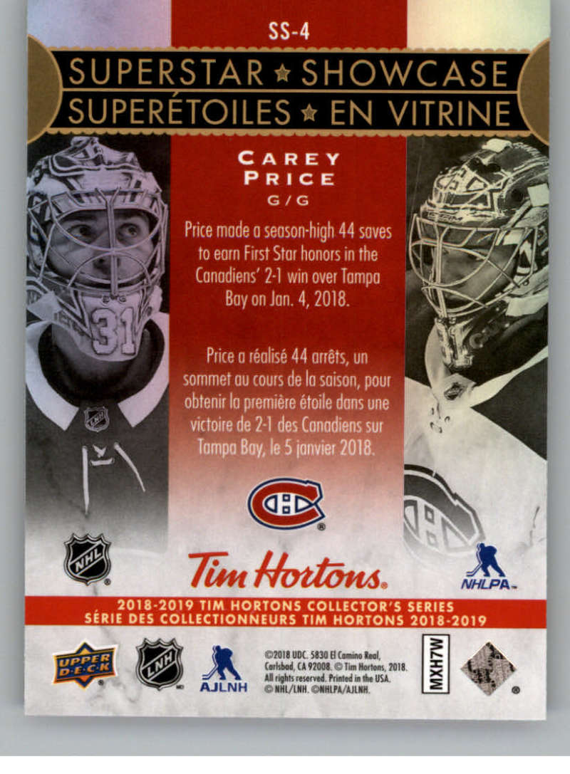 2018-19-Upper-Deck-Tim-Hortons-NHL-Hockey-Cards-Base-and-Inserts-Pick-From-List miniature 97