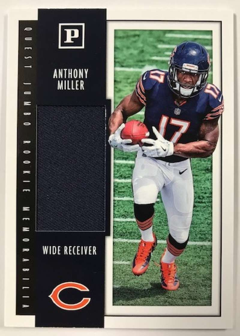 2018 Panini Quest Jumbo Rookie Memorabilia Football Card #14 Anthony Miller Jersey/Relic Chicago Bears  Official NFL Trading Card
