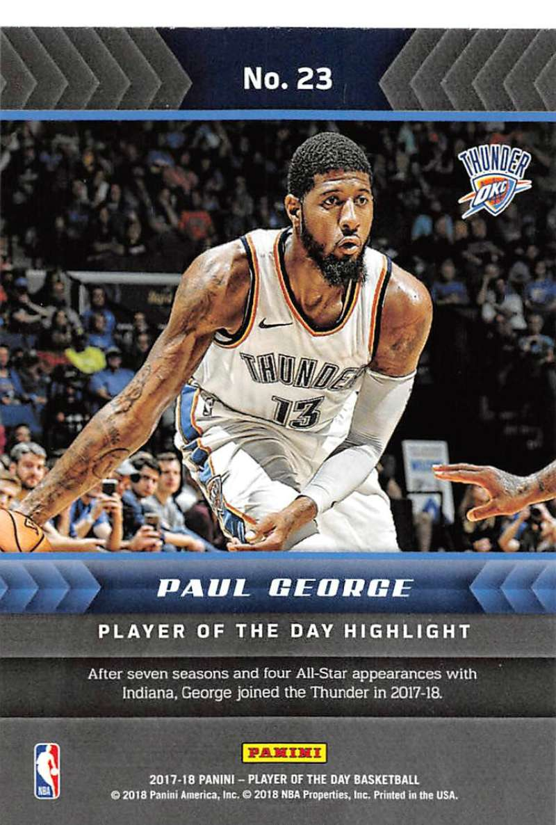 2017-18-Panini-Player-of-the-Day-NBA-Basketball-Cards-Pick-From-List thumbnail 47