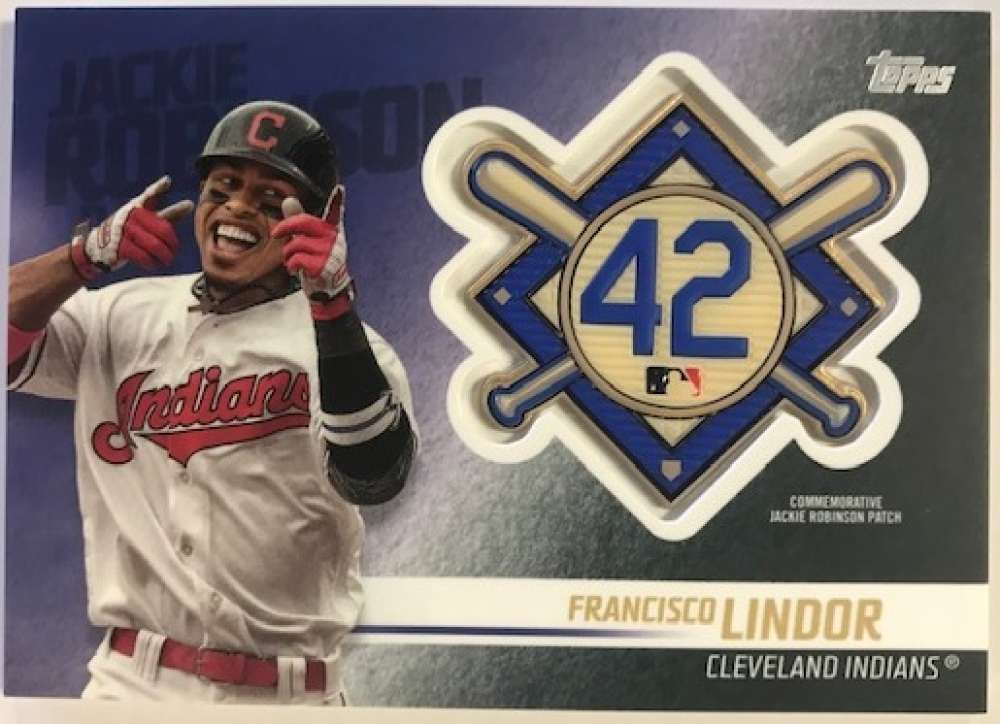 2018 Topps Update and Highlights Baseball Series Jackie Robinson Day Manufactured Medallion Patch #JRP-FL Francisco Lind Official MLB Trading Card