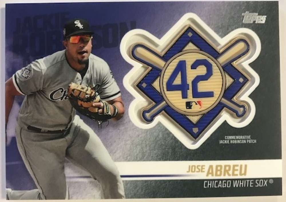 2018 Topps Update and Highlights Baseball Series Jackie Robinson Day Manufactured Medallion Patch #JRP-JR Jose Abreu Chi Official MLB Trading Card