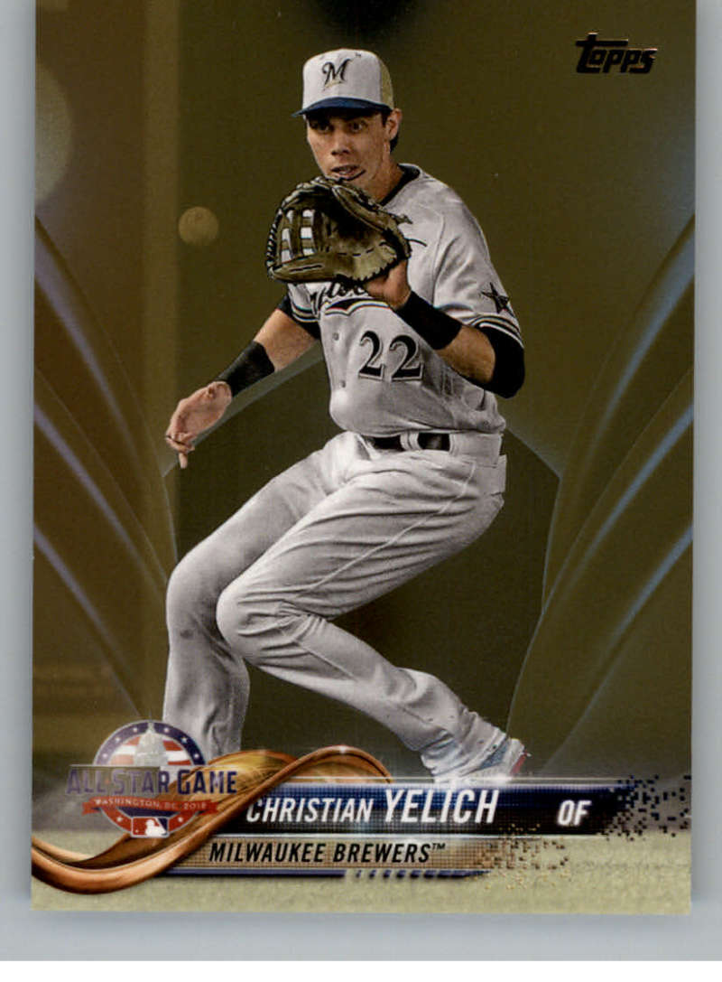 2018 MLB Topps Update Gold SER2018 US27 Christian Yelich Milwaukee Brewers  Official Baseball Trading Card
