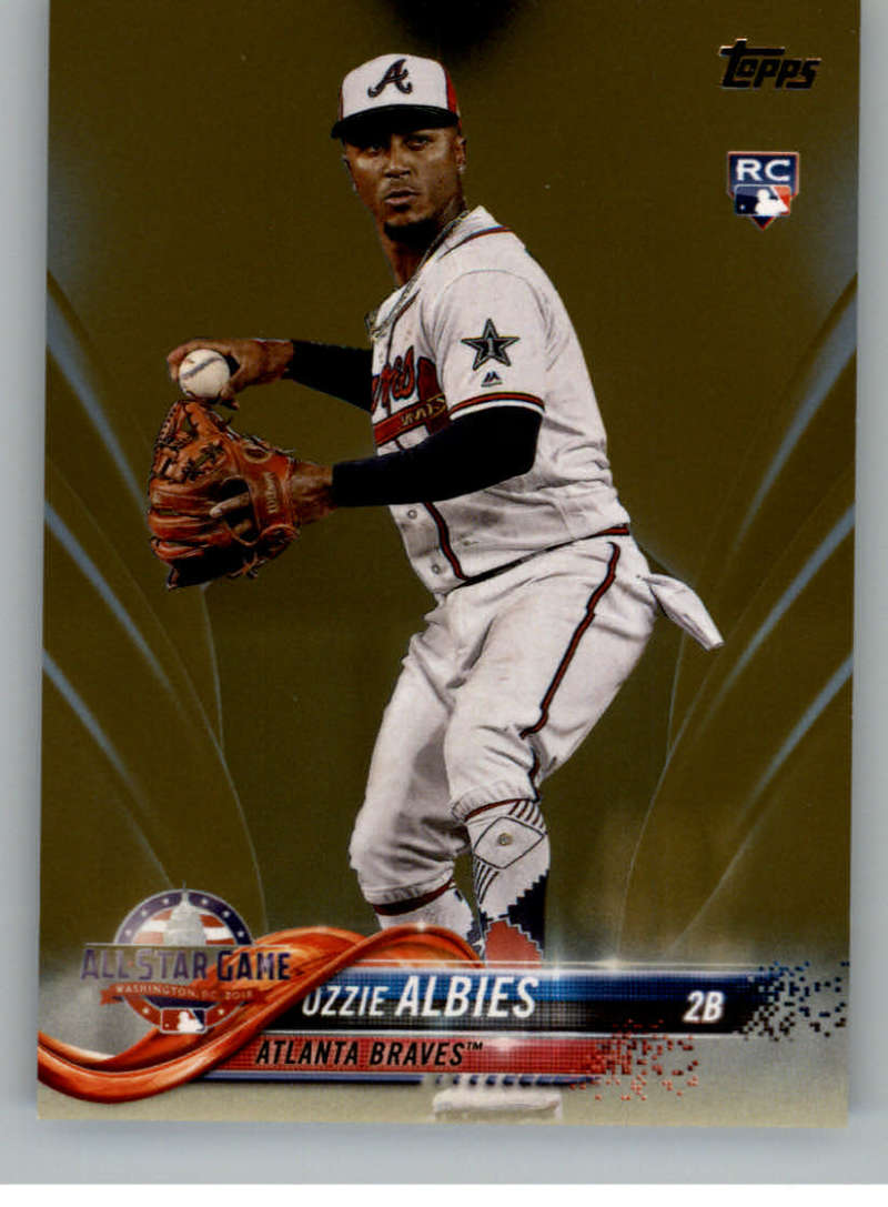 2018 MLB Topps Update Gold SER2018 US162 Ozzie Albies RC Rookie Atlanta Braves  Official Baseball Trading Card