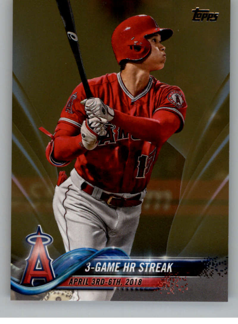 2018 MLB Topps Update Gold SER2018 US189 Shohei Ohtani RC Rookie Los Angeles Angels  Official Baseball Trading Card