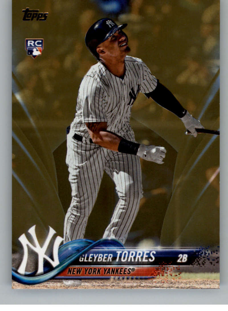 2018 MLB Topps Update Gold SER2018 US200 Gleyber Torres RC Rookie New York Yankees  RC Rookie  Official Baseball Trading Card