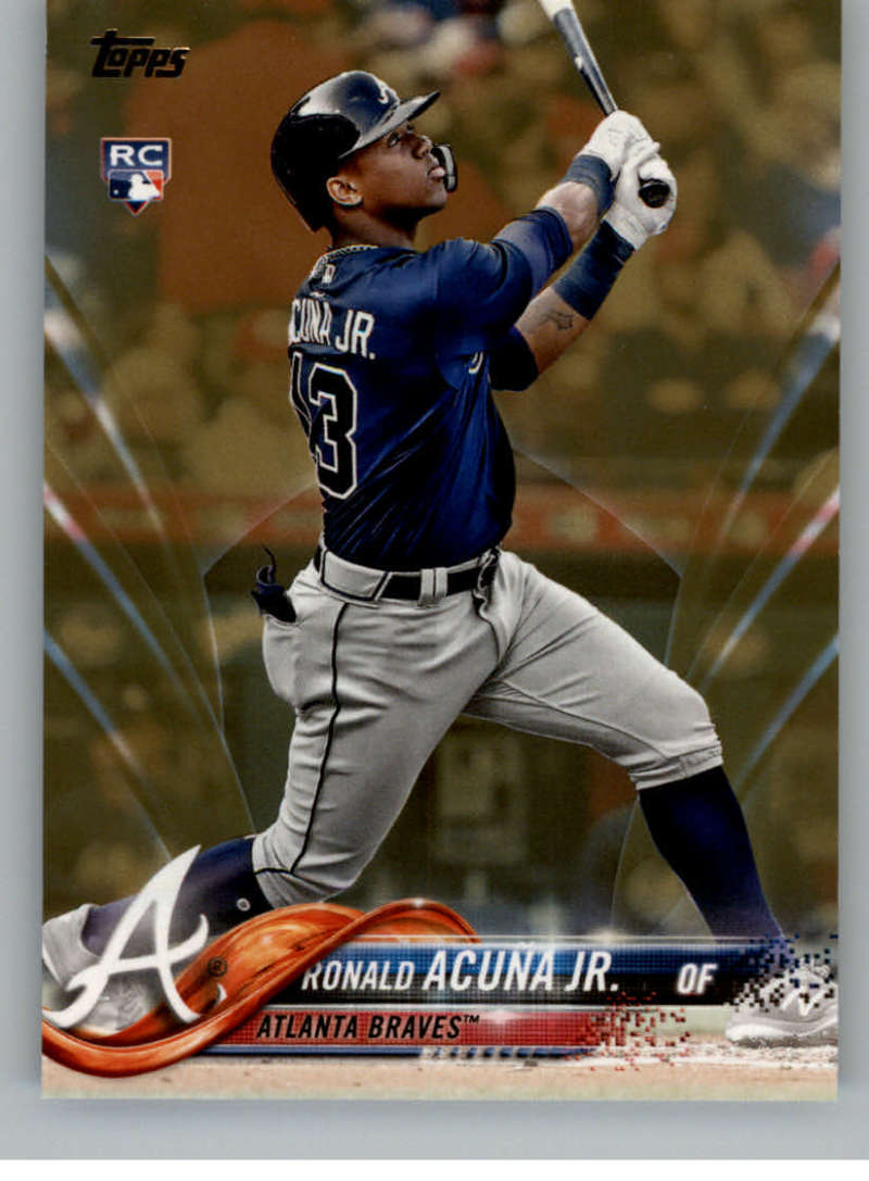 2018 MLB Topps Update Gold SER2018 US250 Ronald Acuna Jr. RC Rookie Atlanta Braves  RC Rookie  Official Baseball Trading Card
