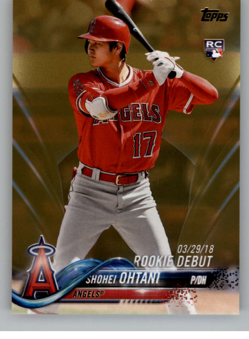 2018 MLB Topps Update Gold SER2018 US285 Shohei Ohtani RC Rookie Los Angeles Angels  RC Rookie  Official Baseball Trading Card