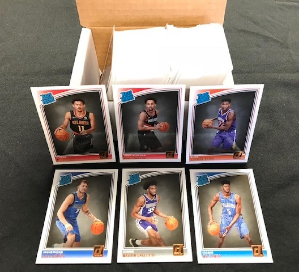2018-19 Donruss Complete Hand Collated NM-MT Basketball Set of 200 Cards Includes 50 Rated Rookie Cards