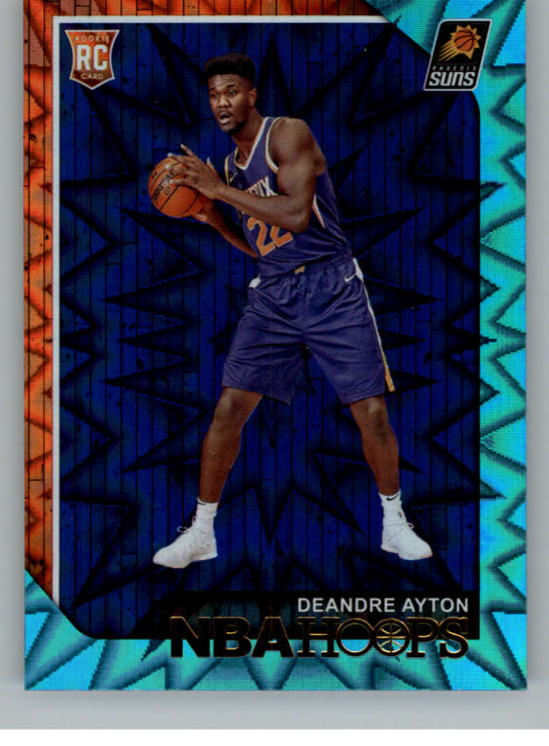2018-19 NBA Hoops Teal Explosion #248 Deandre Ayton Phoenix Suns  Official Trading Card made by Panini