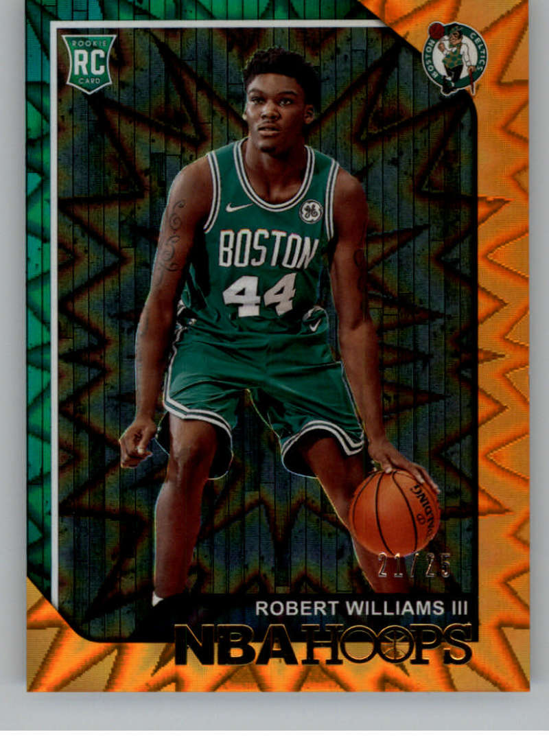 2018-19 NBA Hoops Orange Explosion #269 Robert Williams III SER/25 Boston Celtics  Official Trading Card made by Panini