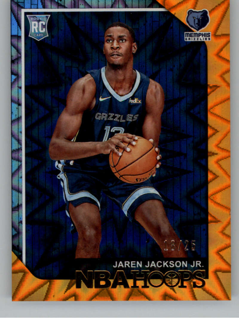 2018-19 NBA Hoops Orange Explosion #278 Jaren Jackson Jr. SER/25 Memphis Grizzlies  Official Trading Card made by Panini