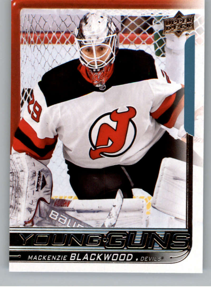 2018-19 Upper Deck Hockey Card #210 Mackenzie Blackwood New Jersey Devils  Official UD Trading Card