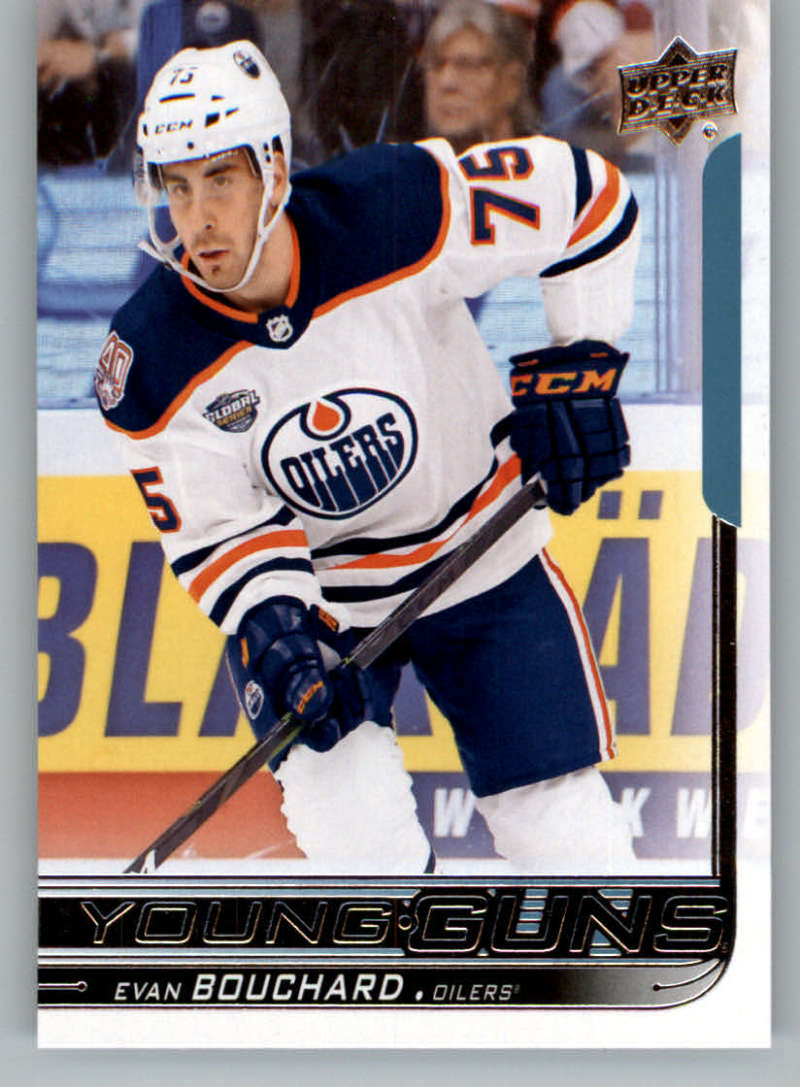 2018-19 Upper Deck Hockey Card #221 Evan Bouchard Edmonton Oilers  Official UD Trading Card