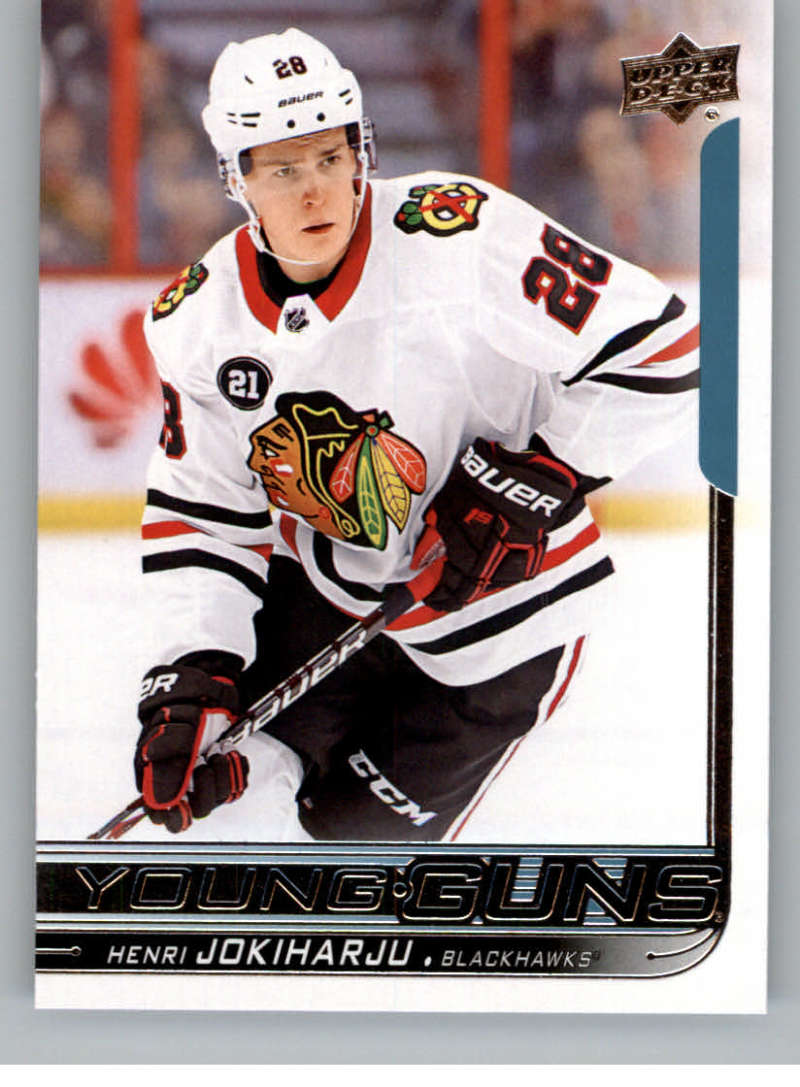 2018-19 Upper Deck Hockey Card #230 Henri Jokiharju Chicago Blackhawks  Official UD Trading Card