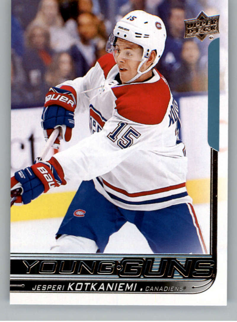 2018-19 Upper Deck Hockey Card #249 Jesperi Kotkaniemi Montreal Canadiens  Official UD Trading Card
