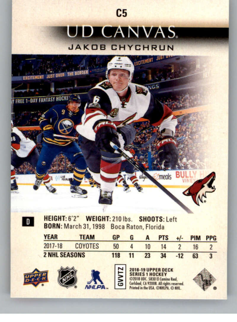 2018-19-Upper-Deck-Canvas-18-19-UD-Series-One-Hockey-Cards-Pick-From-List miniature 9