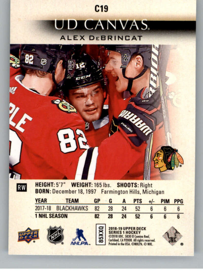 2018-19-Upper-Deck-Canvas-18-19-UD-Series-One-Hockey-Cards-Pick-From-List miniature 19