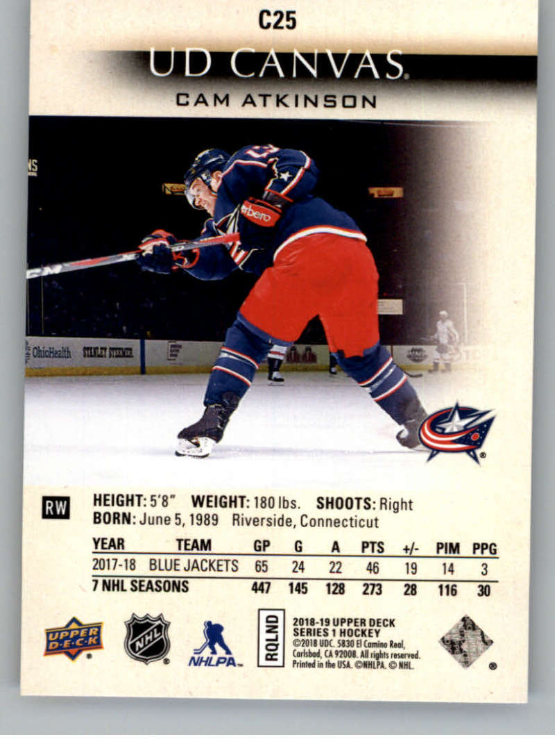 2018-19-Upper-Deck-Canvas-18-19-UD-Series-One-Hockey-Cards-Pick-From-List miniature 27