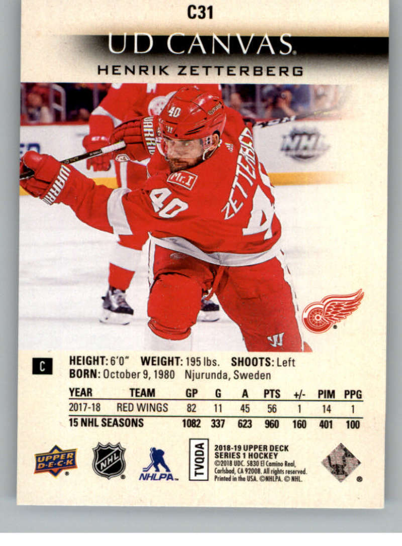 2018-19-Upper-Deck-Canvas-18-19-UD-Series-One-Hockey-Cards-Pick-From-List miniature 31