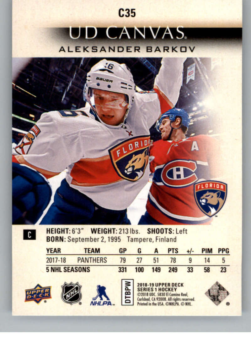 2018-19-Upper-Deck-Canvas-18-19-UD-Series-One-Hockey-Cards-Pick-From-List miniature 37