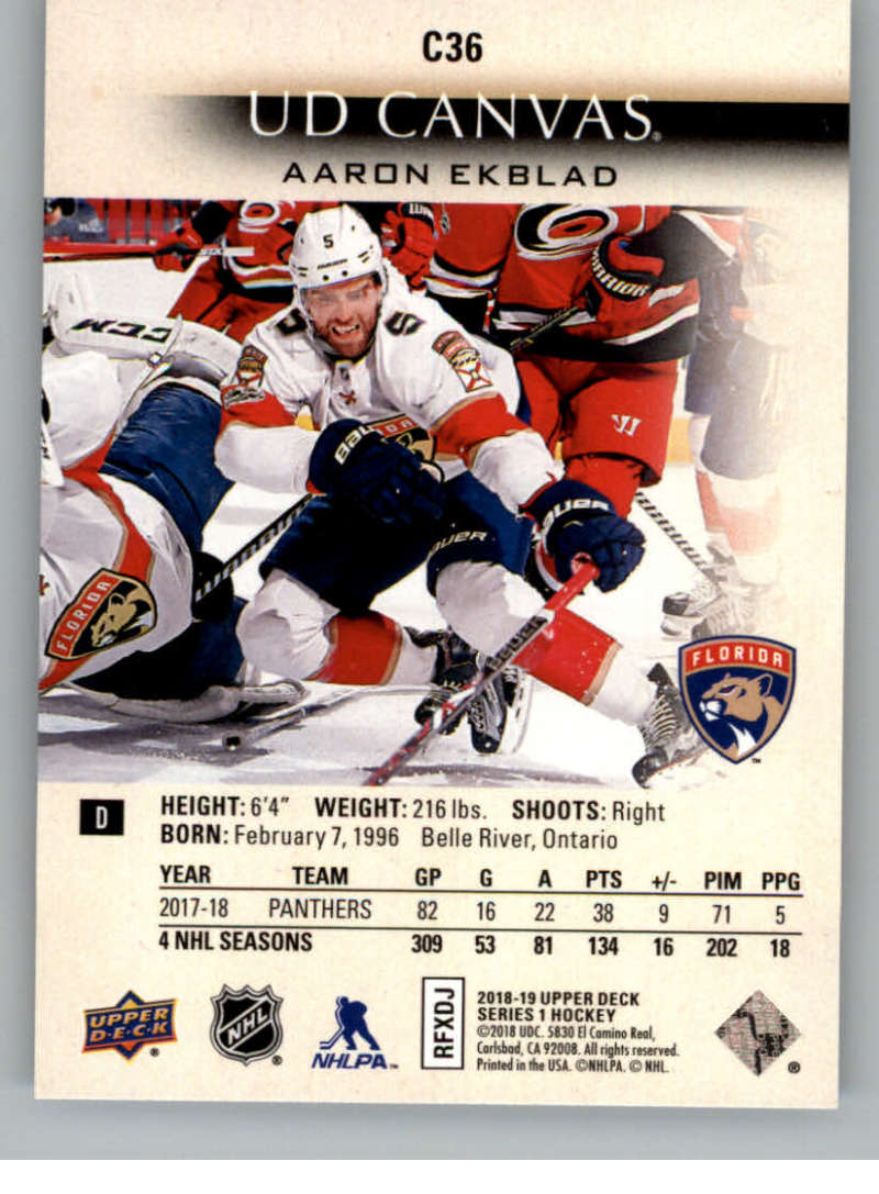 2018-19-Upper-Deck-Canvas-18-19-UD-Series-One-Hockey-Cards-Pick-From-List miniature 39