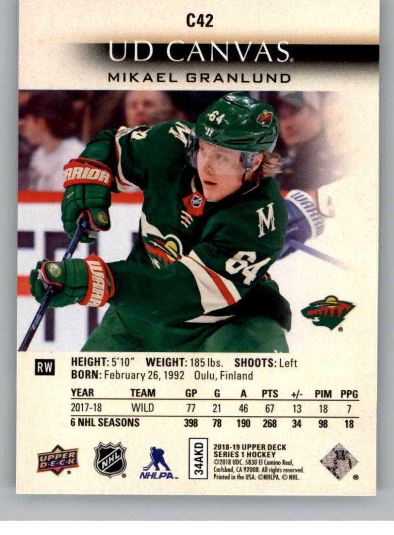 2018-19-Upper-Deck-Canvas-18-19-UD-Series-One-Hockey-Cards-Pick-From-List miniature 49