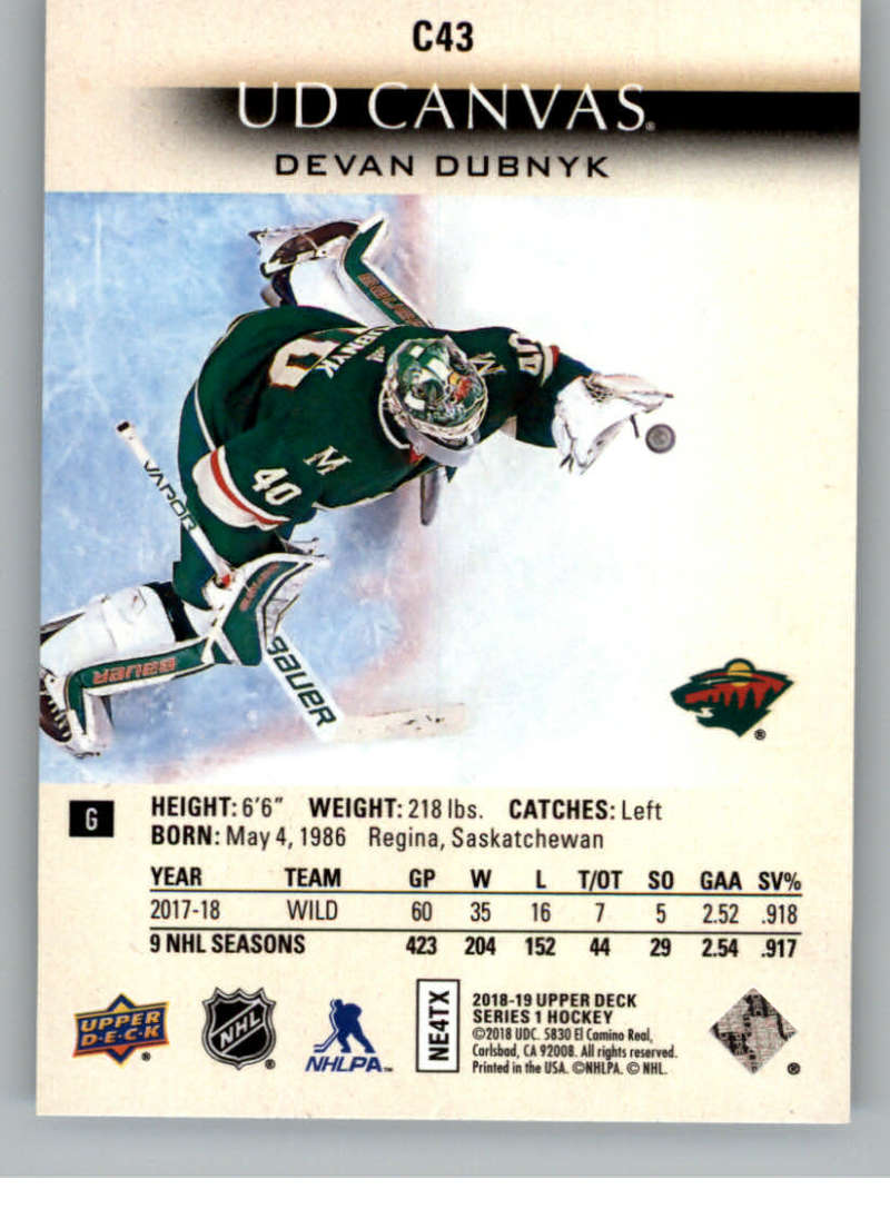 2018-19-Upper-Deck-Canvas-18-19-UD-Series-One-Hockey-Cards-Pick-From-List miniature 51