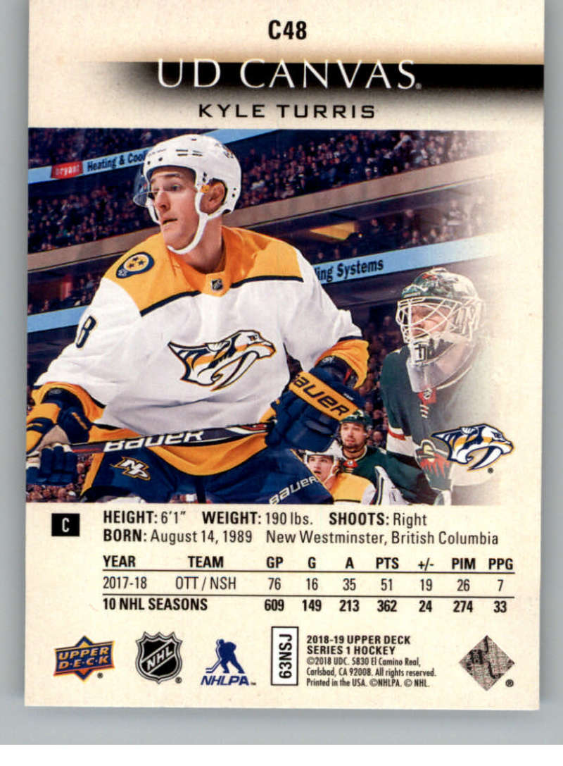 2018-19-Upper-Deck-Canvas-18-19-UD-Series-One-Hockey-Cards-Pick-From-List miniature 57