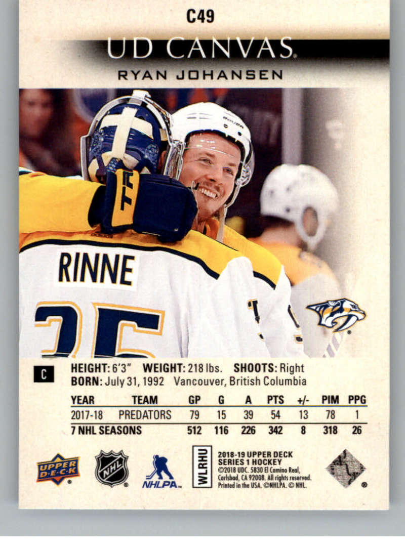 2018-19-Upper-Deck-Canvas-18-19-UD-Series-One-Hockey-Cards-Pick-From-List miniature 59