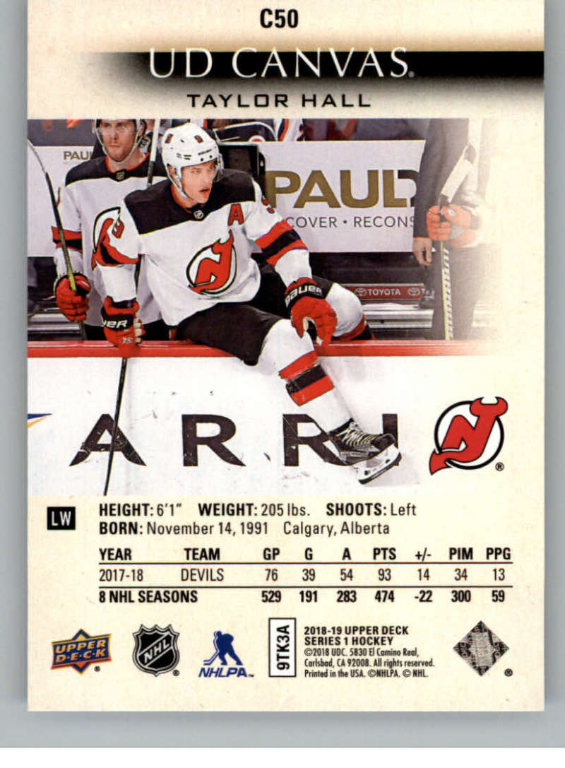 2018-19-Upper-Deck-Canvas-18-19-UD-Series-One-Hockey-Cards-Pick-From-List miniature 61