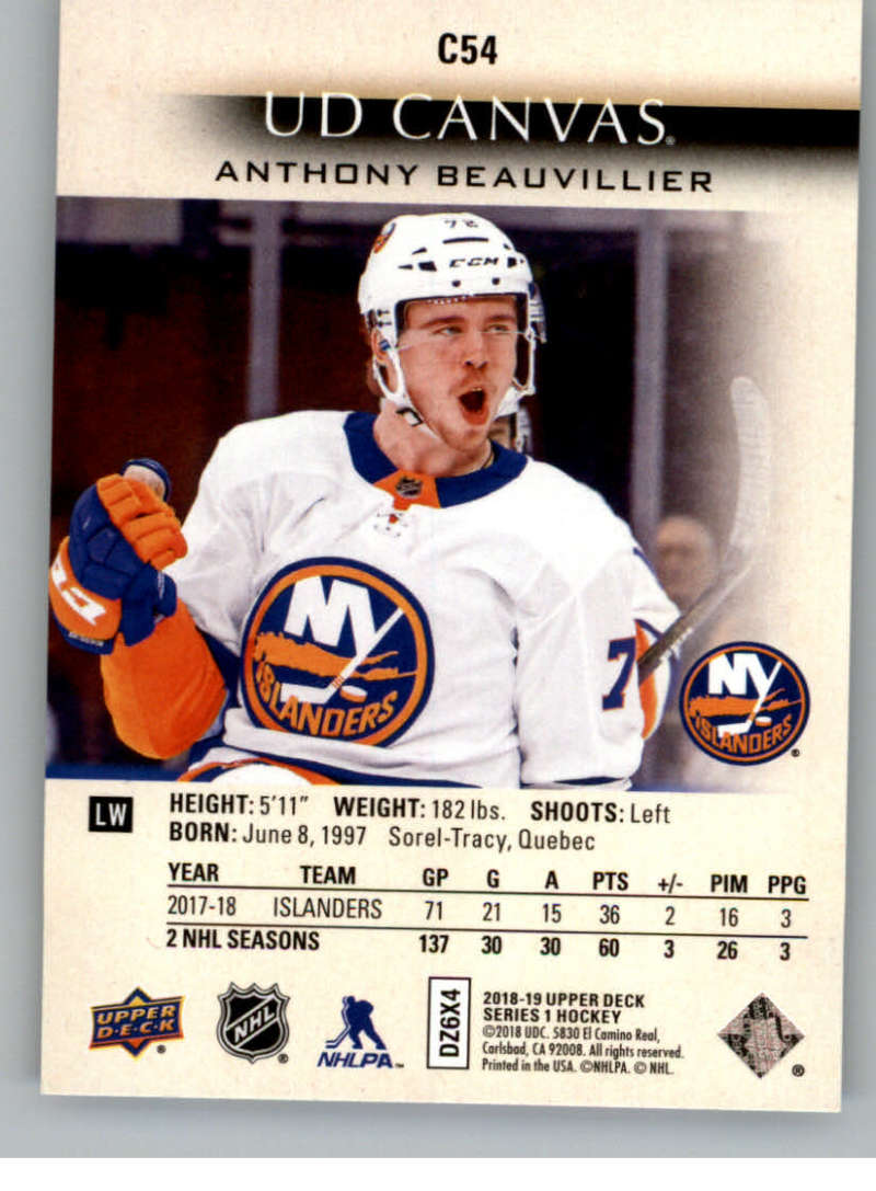 2018-19-Upper-Deck-Canvas-18-19-UD-Series-One-Hockey-Cards-Pick-From-List miniature 63