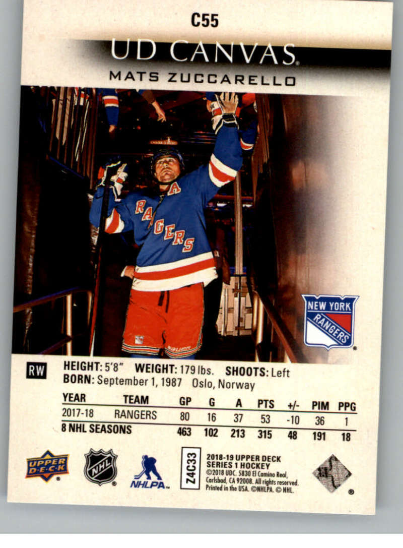 2018-19-Upper-Deck-Canvas-18-19-UD-Series-One-Hockey-Cards-Pick-From-List miniature 65